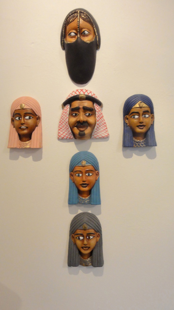 Composition Trouvée (Arabic faces (on the wall)) by Bijl Guillaume