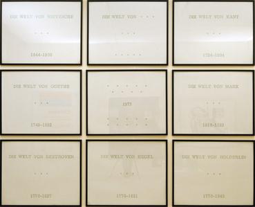 Série allemande (9 pièces) by Broodthaers Marcel