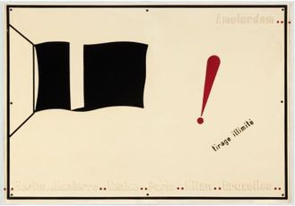 Le drapeau noir (The black flag) n°1000 by Broodthaers Marcel