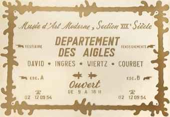 Département des Aigles (David - Ingres - Wiertz - Courbet) by Broodthaers Marcel