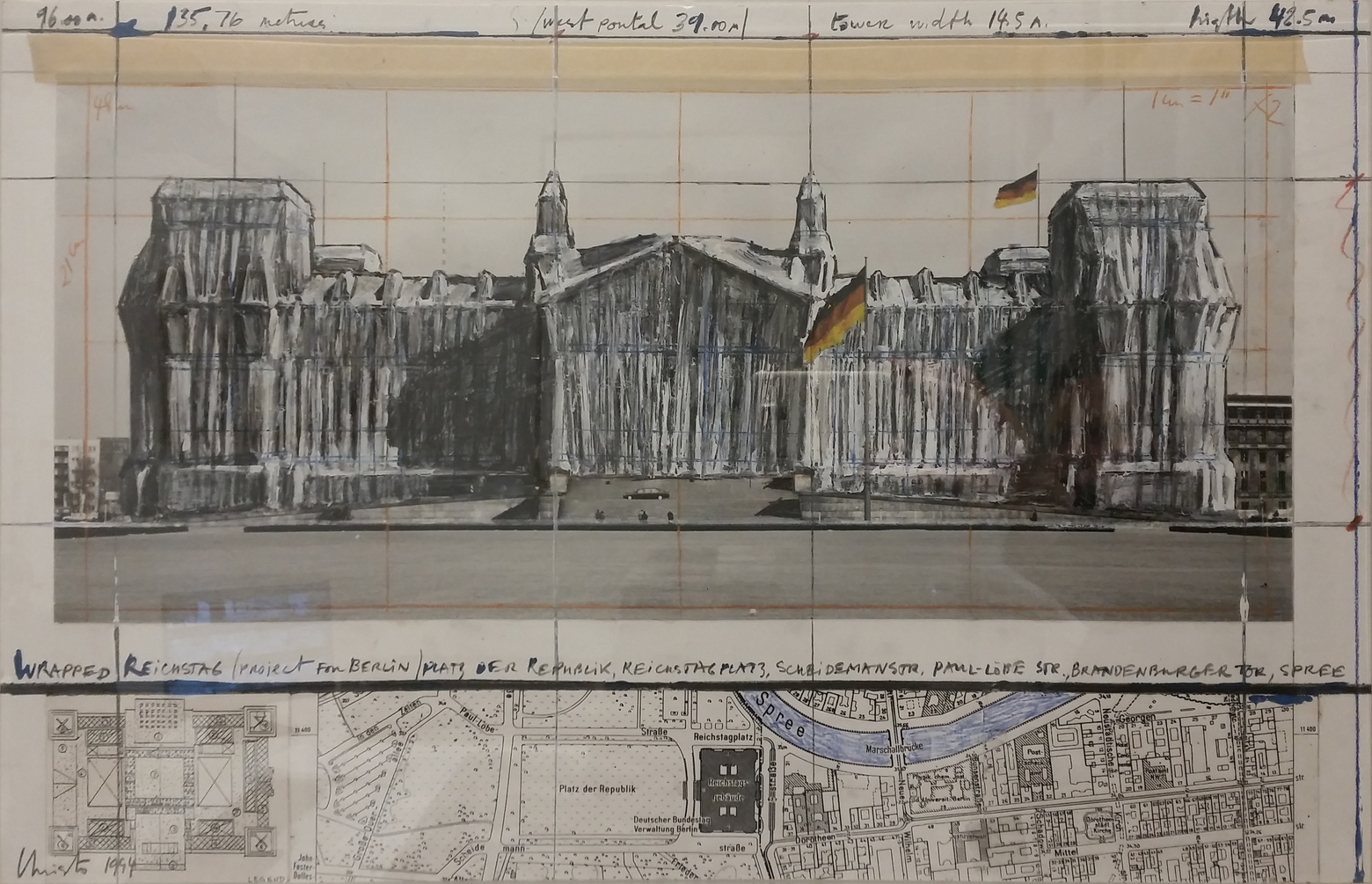 Wrapped Reichstag, Project for Berlin by Christo
