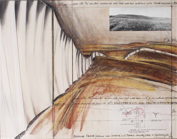 Running fence (Project for Sonoma County and Marin County, State of California) by Christo