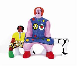 Le banc des génerations by De Saint Phalle Niki