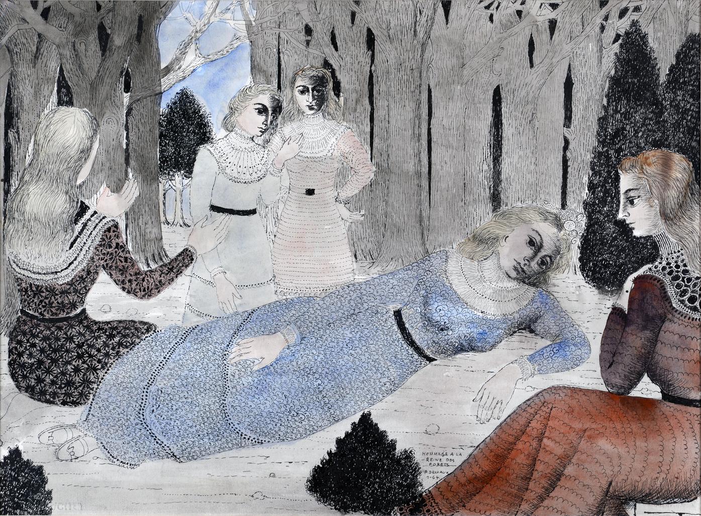 Hommage à la reine des forêts by Delvaux Paul