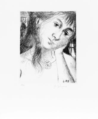 Mélancholie (Rives)  by Delvaux Paul