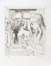 Les oeillets by Delvaux Paul
