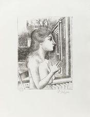 Femme au jardin by Delvaux Paul