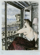 Les derniers beaux jours Le balcon by Delvaux Paul