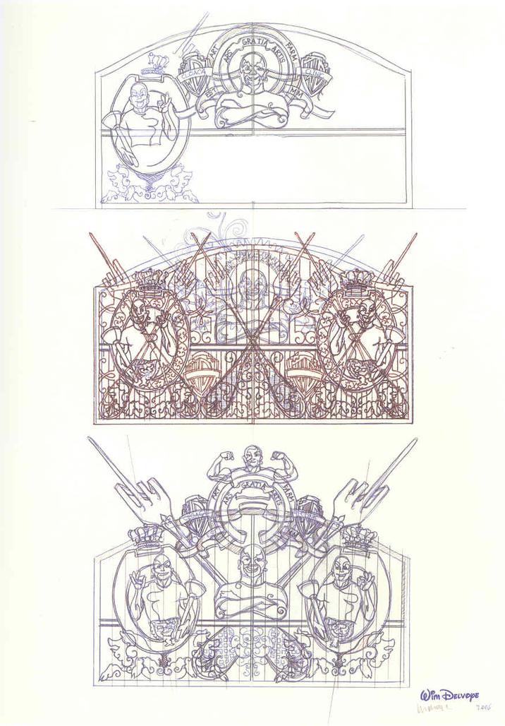 Studies for Cloaca Gates Study # 261 by Delvoye Wim