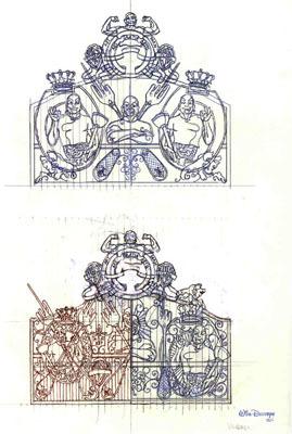 Studies for Cloaca Gates Study # 262 by Delvoye Wim