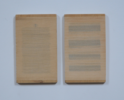 Horizontaal versneden boeken ingewerkt in hout, 2001 A.5.10.01 by Denmark