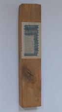 Horizontaal versneden boek ingewerkt in stuk balk, 1998 - P.2.10.98  by Denmark