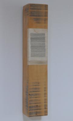 Horizontaal versneden boek ingewerkt in stuk balk, 2004 - P.3.4.04  by Denmark