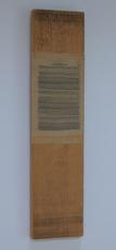 Horizontaal versneden boek ingewerkt in stuk plank, 1998 - P.3.7.98 by Denmark