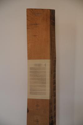 Horizontaal versneden boek ingewerkt in balk, 1999 P.2.1.99 by Denmark