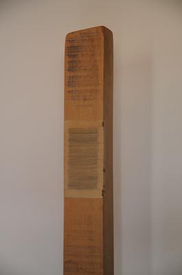 Horizontaal versneden boek ingewerkt in balk, 1997 P4.11.97 by Denmark