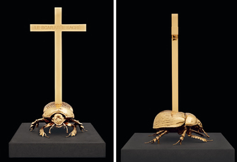 Holy dung beetle Scarabée sacré by Fabre Jan