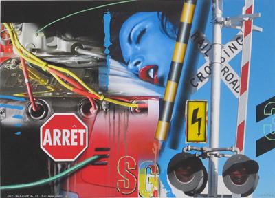 Lost Landscape n° 45 / Blue Dream / Arret G by Klasen Peter