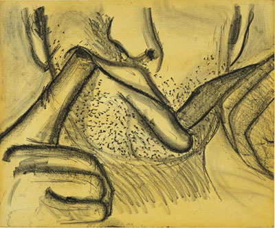Soft Ground Etching - Yellow by Nauman Bruce