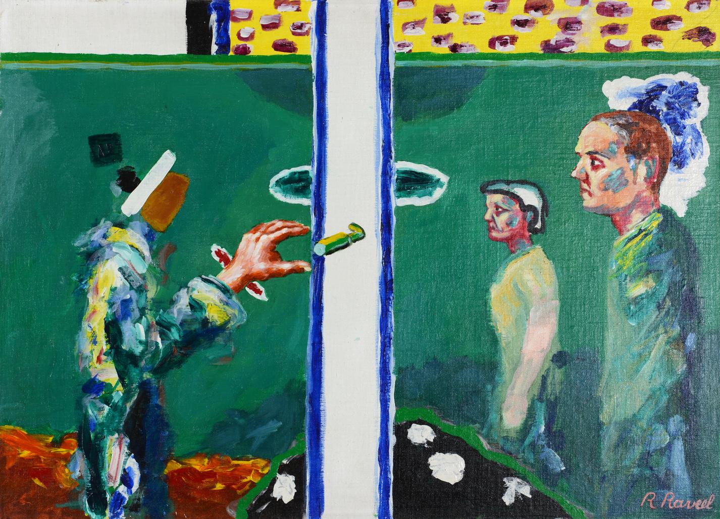 In het groen van mijn poort by Raveel Roger