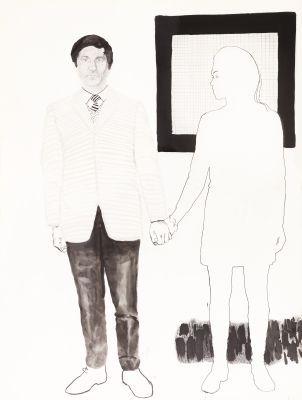 Portret van dhr en mevr Goeminne by Raveel Roger