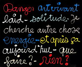 Danger art vivant by Vautier Ben