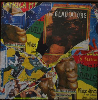Gladiators - Chemin Ricard, Moissac, 17 juillet 1999 by Villeglé Jacques
