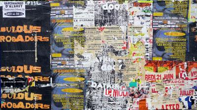 """Colonne Moris Agen - """"Gasconneries d'Albret"""" by Villeglé Jacques"""