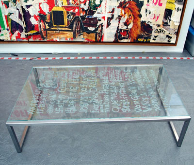Table basse by Villeglé Jacques