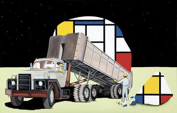 Transport International de Neoplasticisme by Kamagurka