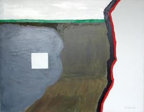 Een landschappelijk schilderij by Raveel Roger