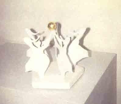 La danse white + gold ball 3/6 by Rotraut