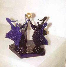 La danse blue base galaxy + gold ball by Rotraut