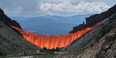 Christo and Jeanne-Claude Valley Curtain, Rifle, Colorado, 1972 by Volz Wolfgang