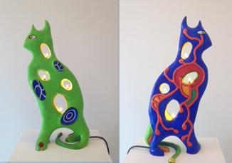Lampe Chat by De Saint-phalle Niki