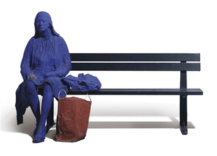 Blue Girl on Park Bench  by Segal George