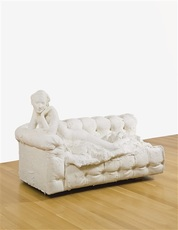 Nude on couch (on her stomach) by Segal George