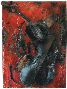 Untitled (Colère de Violoncelle) by Arman