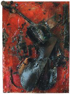 Untitled (Colère de Violoncelle) by Arman