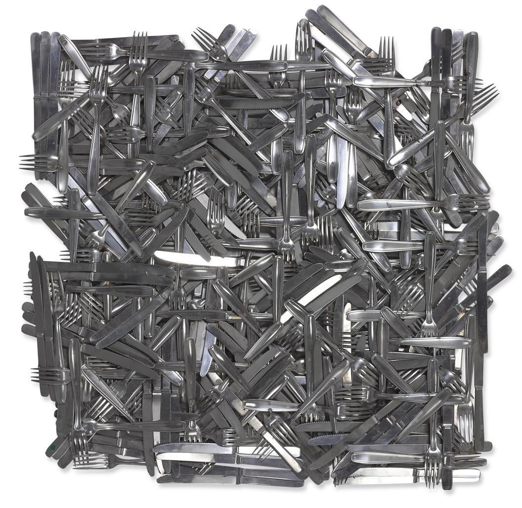 Metallic Pattern by Arman