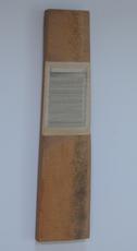 Horizontaal versneden boek ingewerkt in stuk plank, 1998 - P.4.7.98 by Denmark