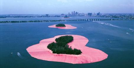 Christo and Jeanne-Claude Surrounded Islands, Biscany Bay,  Greater Miami, Florida by Volz Wolfgang