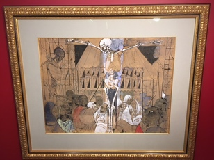 Crucifixion by Delvaux Paul