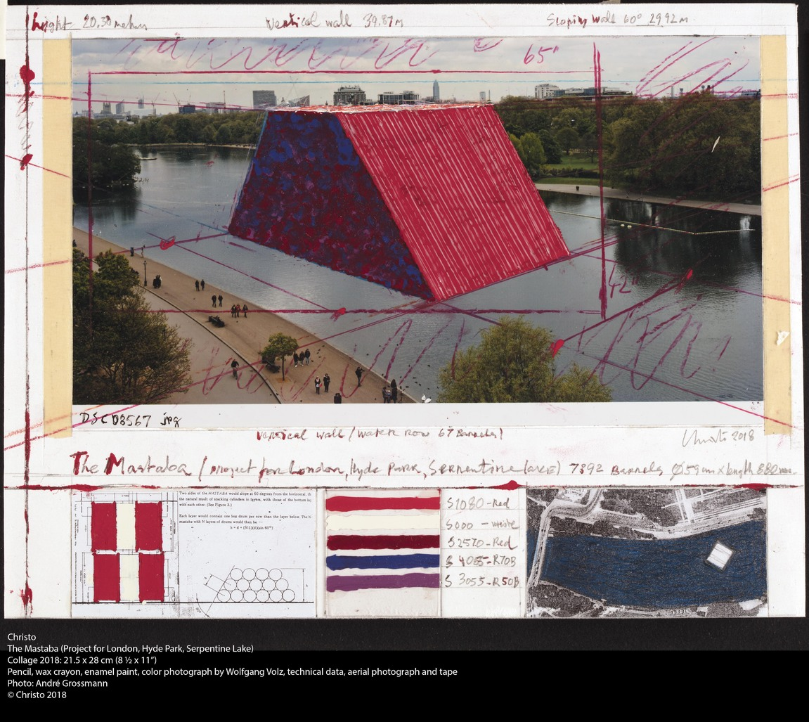 The Mastaba (Project for London, Hyde Park, Serpentine Lake) by Christo