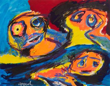 Trois têtes by Appel Karel
