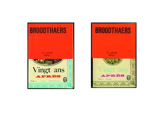 Vingt ans après (2 volumes)  by Broodthaers Marcel