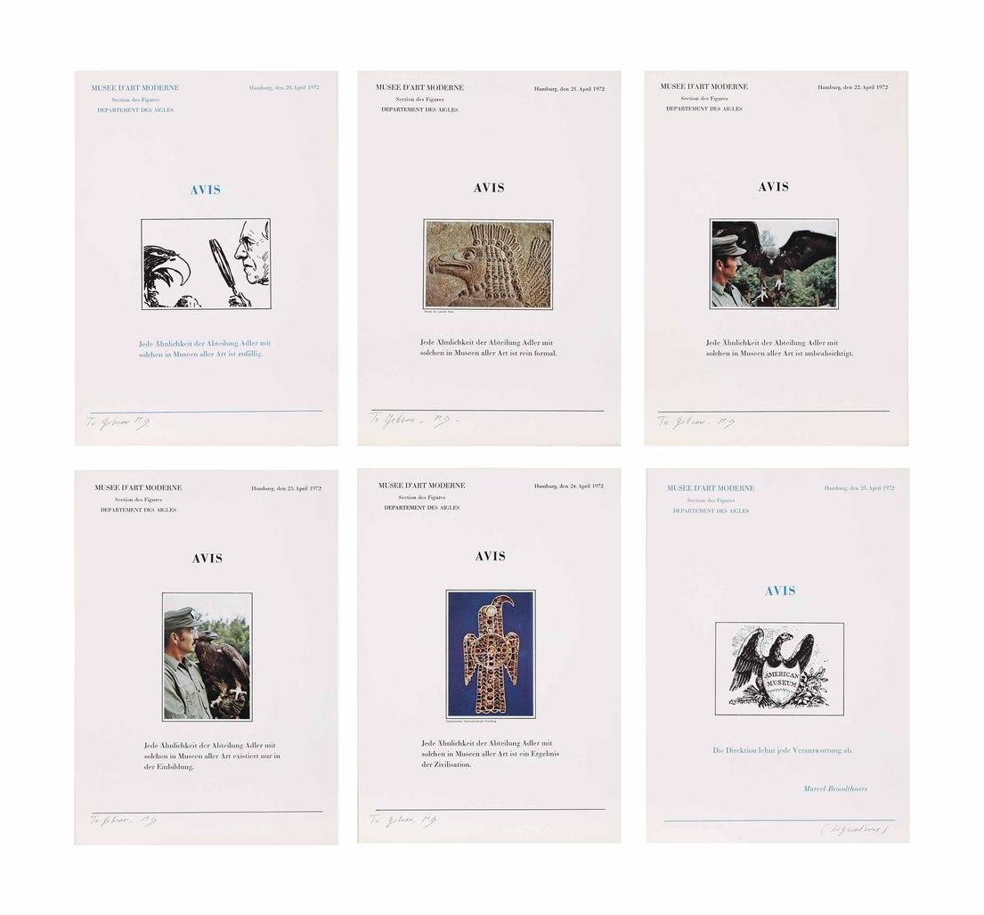 Six lettres ouvertes Avis (Six Open Letters Announcement) by Broodthaers Marcel