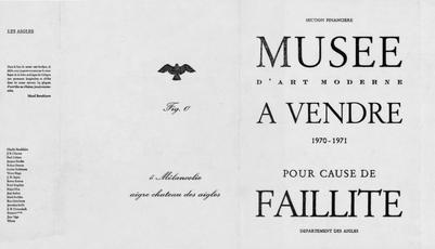 Musée d'Art Moderne à vendre pour cause de faillite by Broodthaers Marcel