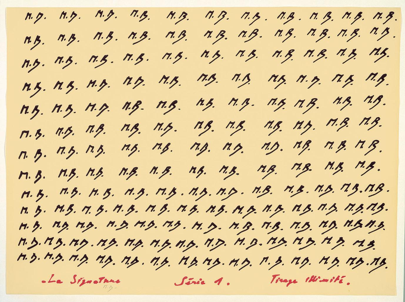 La Signature  Série 1. Tirage illimité by Broodthaers Marcel