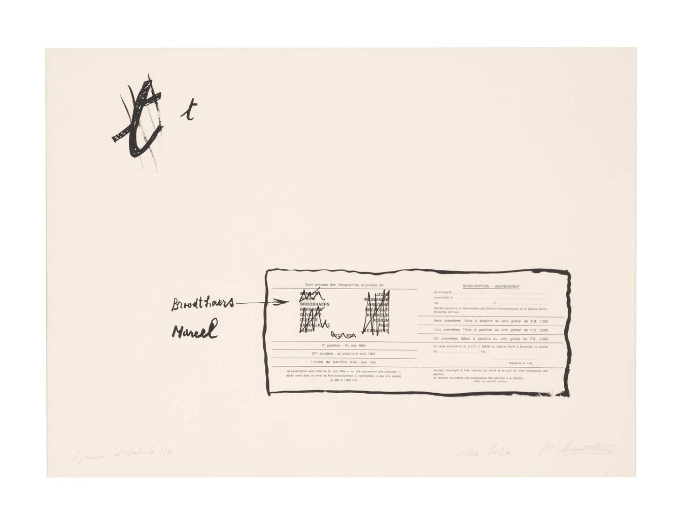 La Faute d'Orthographe (Mea culpa) by Broodthaers Marcel